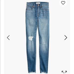 "Madewell 9"" skinny petite jean in Frankie wash"
